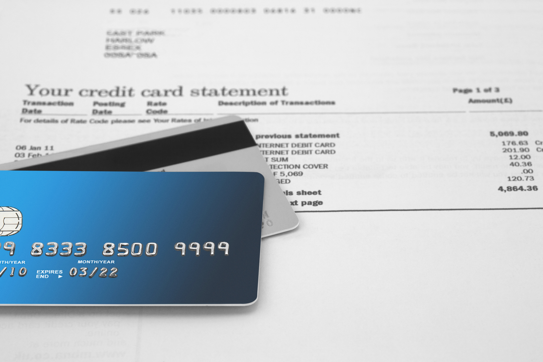 medical-practice-credit-card-statement